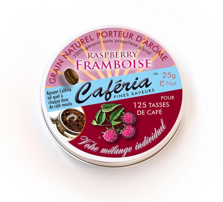 Aromatisierter Kaffee und diverse Getränke und Süßspeisen lassen sich mit diesem Himbeeraroma von Caferia leicht selber herstellen. Himbeere paßt besser zum Kaffee, als viele vielleicht denken mögen - toll auch in Kombination mit Schokolade