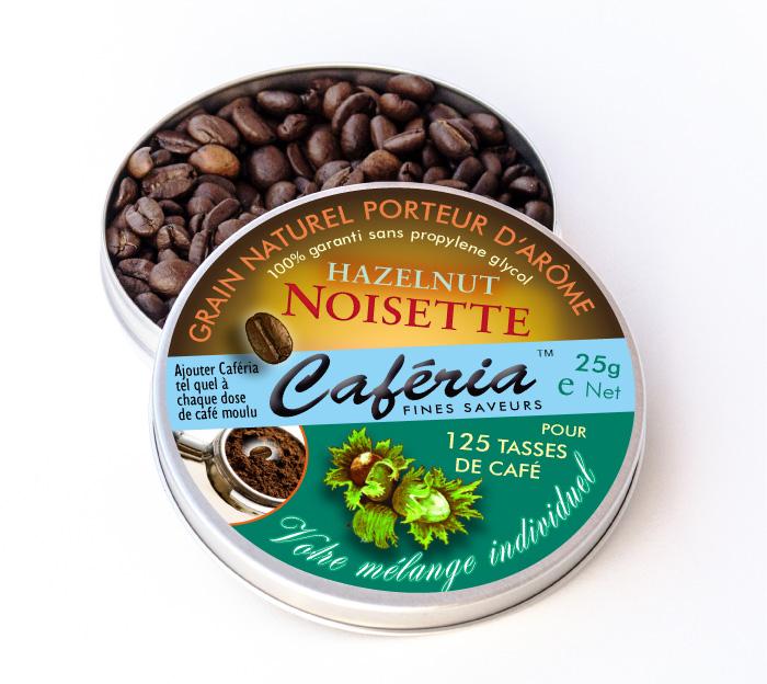 """Mit Haselnuss-Aroma und Schoko-Aroma läßt sich im Handumdrehen ein aromatisierter Kaffee mit """"Nutella-Geschmack"""" herstellen - ganz ohne Kalorien !"""